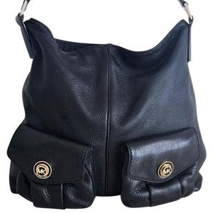 Hobo MK Euc Satchel Black Leather Shoulder Bag
